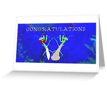 Congratulations Praying Mantis Greeting Card