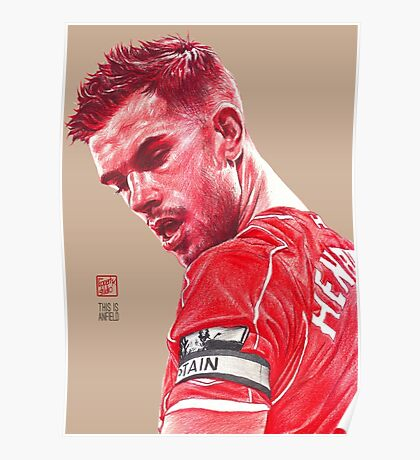 Jordan Henderson - Liverpool FC Poster