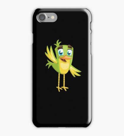 Funny Lovely Vector Graphic Birds For Birds Animal Lovers iPhone Case/Skin