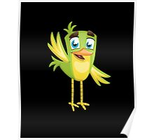 Funny Lovely Vector Graphic Birds For Birds Animal Lovers Poster