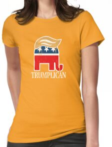 Funny and Bold Trump Elephant with Hair - TRUMPLICAN Womens Fitted T-Shirt