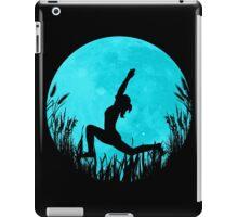 Yoga Moon Posture - Turquoise iPad Case/Skin