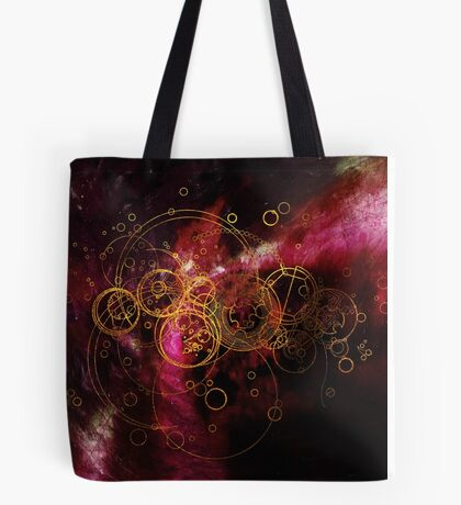 Time Lord Writing (red) Tote Bag