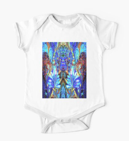 ANCIENT DEITY; Abstract Psychedelic Print One Piece - Short Sleeve