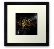 Time Lord Writing (black) Framed Print
