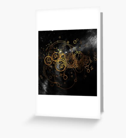 Time Lord Writing (black) Greeting Card
