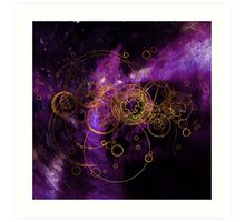Time Lord Writing (purple) Art Print