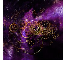 Time Lord Writing (purple) Photographic Print