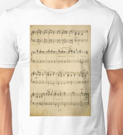 fragment with music  notes Unisex T-Shirt
