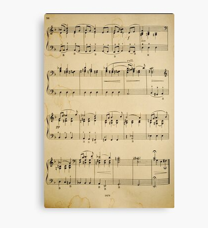 fragment with music  notes Canvas Print