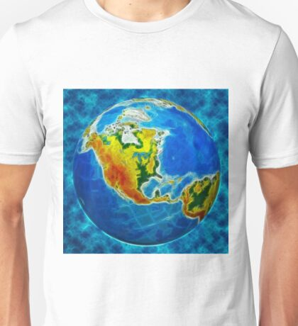 globe, in a center north America Unisex T-Shirt
