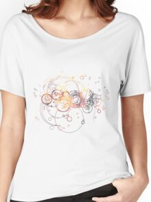 Time Lord Writing (silver) Women's Relaxed Fit T-Shirt