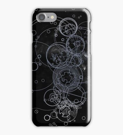 Time Lord Writing (silver) iPhone Case/Skin
