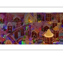Christmas Gingerbread Village Panorama Sticker