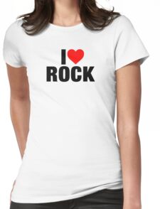I Love Rock Music Womens Fitted T-Shirt