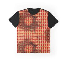 Steampunk Red Harlequin Graphic T-Shirt