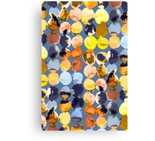 Yellow ink dots Canvas Print