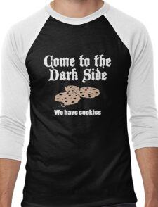 Come to the Dark side we have Cookies Men's Baseball ¾ T-Shirt