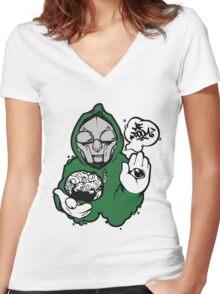 MF Doom - Rapper Women's Fitted V-Neck T-Shirt