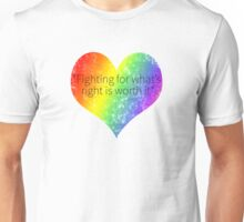 Fighting For What is Right Unisex T-Shirt