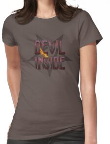 DEVIL INSIDE - Satan / Horror / Devil Womens Fitted T-Shirt