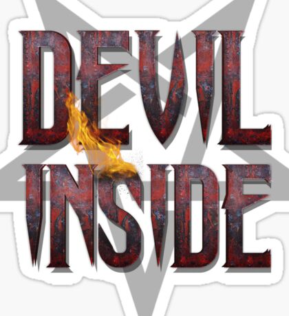 DEVIL INSIDE - Satan / Horror / Devil Sticker