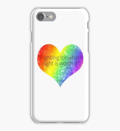 Fighting For What is Right iPhone Case/Skin