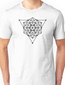 Sacred Geometry #1 (Black) Unisex T-Shirt