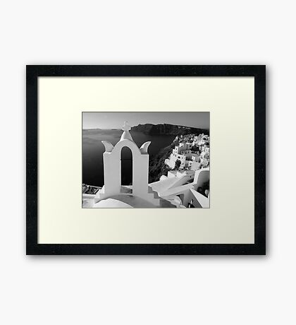 Overlooking the Caldera ~ Black & White Framed Print