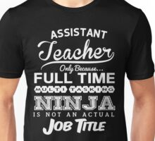 Funny Assistant Teacher T-shirt Novelty Unisex T-Shirt