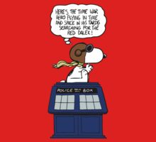 Snoopy and Dr Who One Piece - Short Sleeve