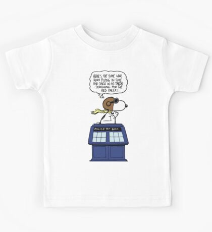 Snoopy and Dr Who Kids Tee