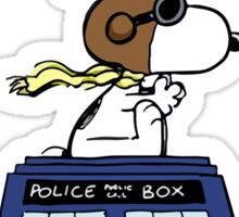 Snoopy and Dr Who Sticker
