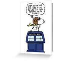 Snoopy and Dr Who Greeting Card