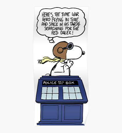 Snoopy and Dr Who Poster