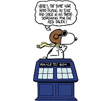 Snoopy and Dr Who Photographic Print