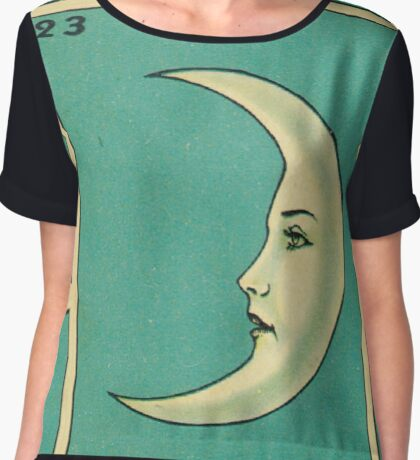 Tarot Card - La Luna - loteria - The moon Chiffon Top