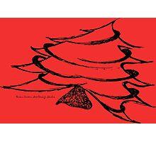 Christmas Tree on Red Photographic Print