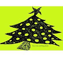 Christmas Tree Drawing Photographic Print