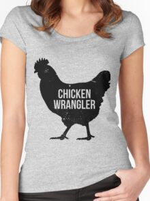 Chicken Wrangler Women's Fitted Scoop T-Shirt