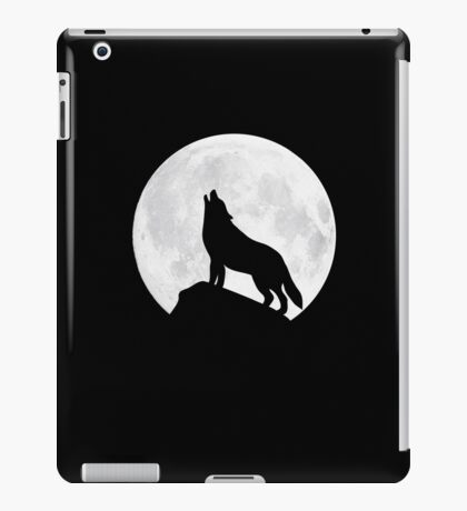 Howling Wolf - Moon iPad Case/Skin