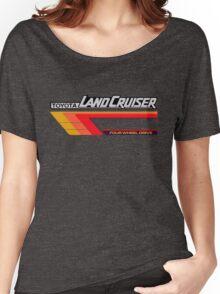 Land Cruiser body art series, red tri-stripe Women's Relaxed Fit T-Shirt