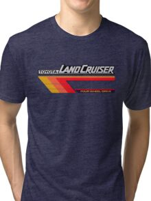 Land Cruiser body art series, red tri-stripe Tri-blend T-Shirt