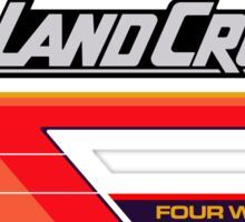 Land Cruiser body art series, red tri-stripe Sticker
