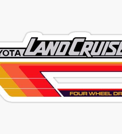 Land Cruiser body art series, red tri-stripe Sticker