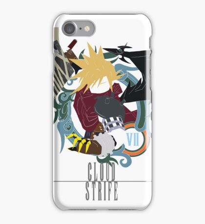 Cloud Strife Medal light-KHUX iPhone Case/Skin