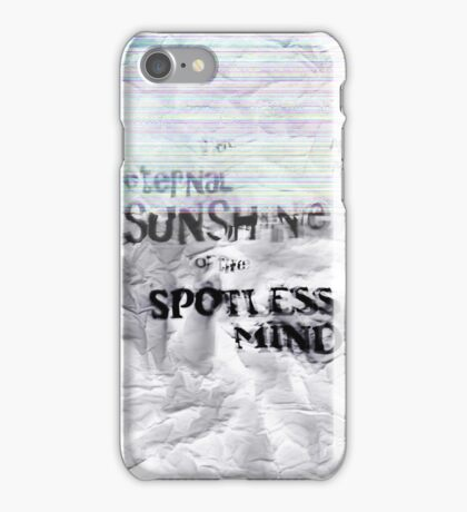 The eternal sunshine of the spotless mind iPhone Case/Skin