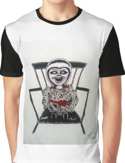 Creepy Annabelle Doll Graphic T-Shirt