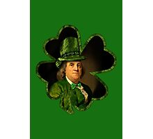 Lucky Ben Franklin Ready for St Patricks Day Photographic Print