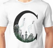 C is for Cemetery Watercolor Painting Unisex T-Shirt